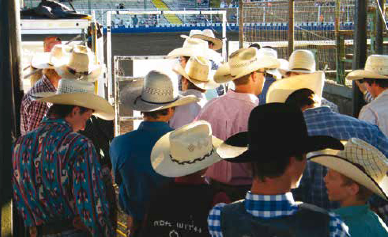 Cowboys awaiting their introduction into the arena to kickoff the Challenge of Champions Tour Stop in Molalla, OR.
