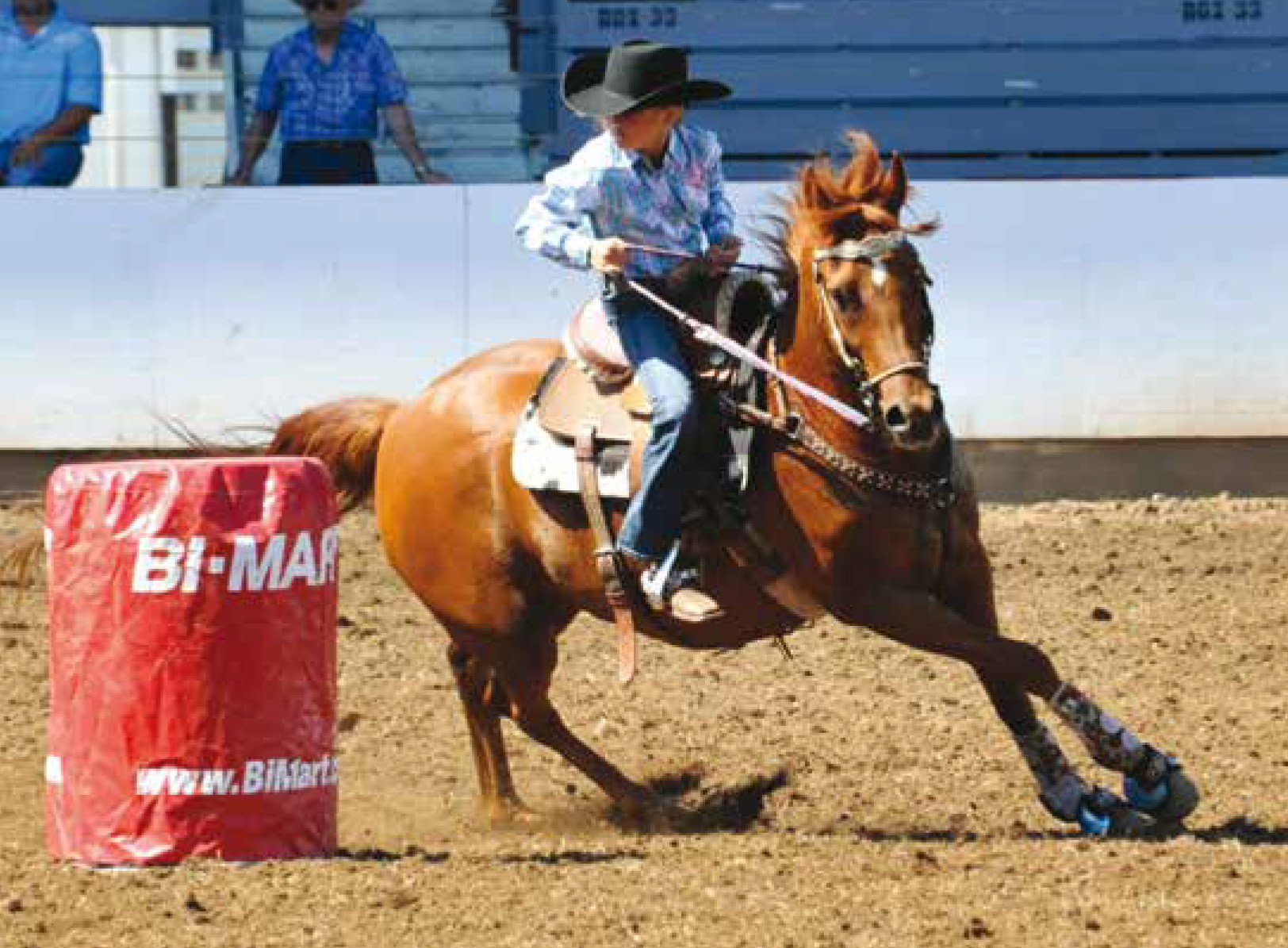 Joelle Mattox (9) barrel racing at the NW Youth Rodeo in St Paul, OR., © Ropin' The Moment Photography.